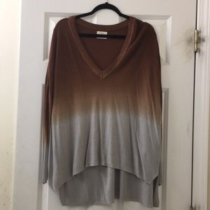 Urban Outfitters Tie dye high low v-neck sweater